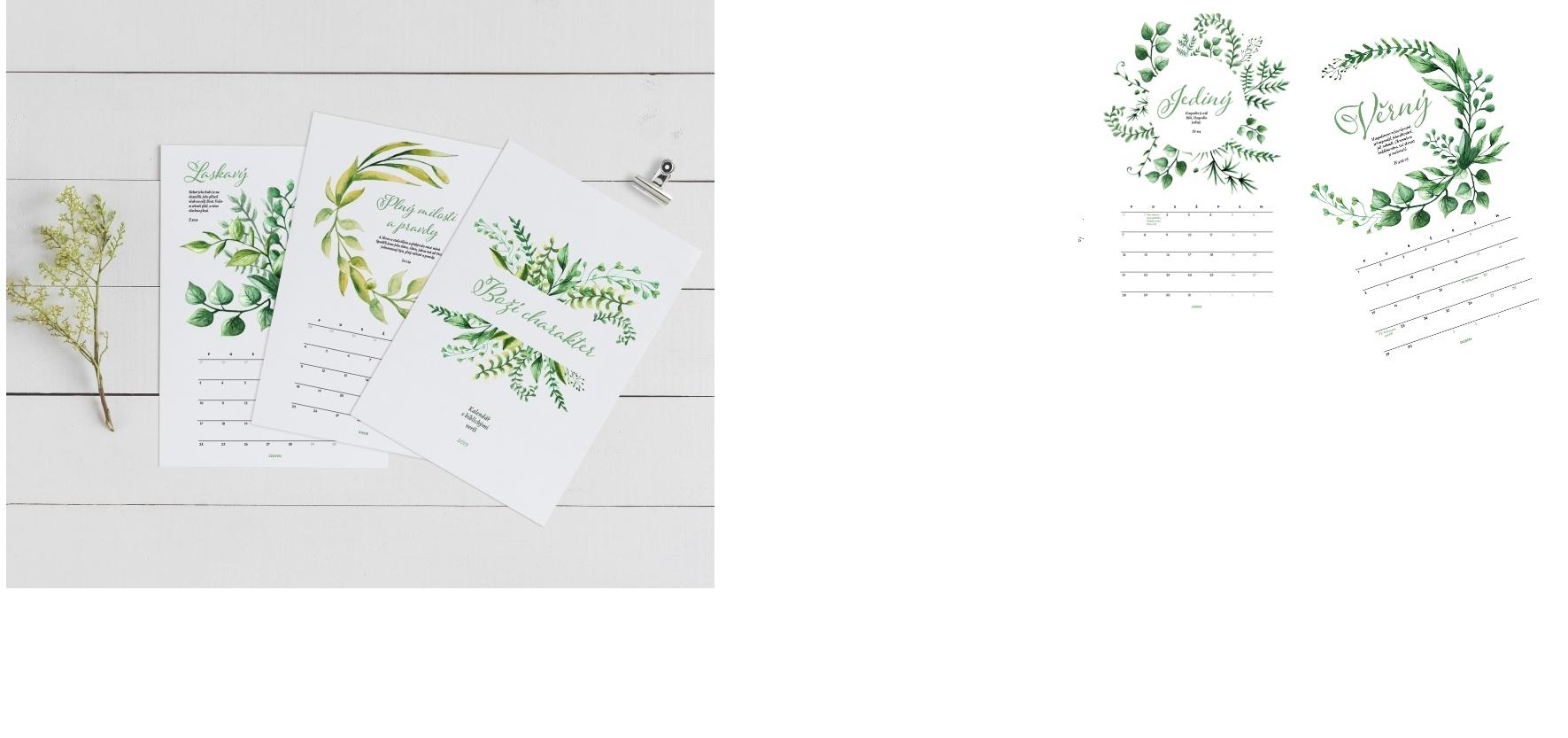 """Vyprávění o Božím charakteru – kalendář s """"duchem"""""""